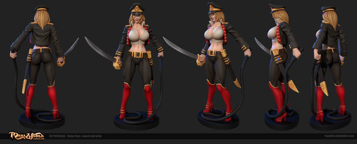 Major Kyra Whip and Sword by Texelion