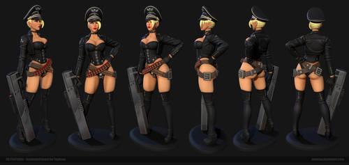 Bombshellshock 3D Printable by Texelion