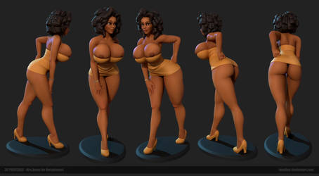 Mrs.Amos 3D Printable by Texelion