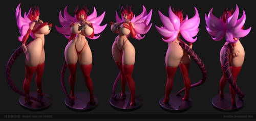 Demon Fuary 3D printable by Texelion