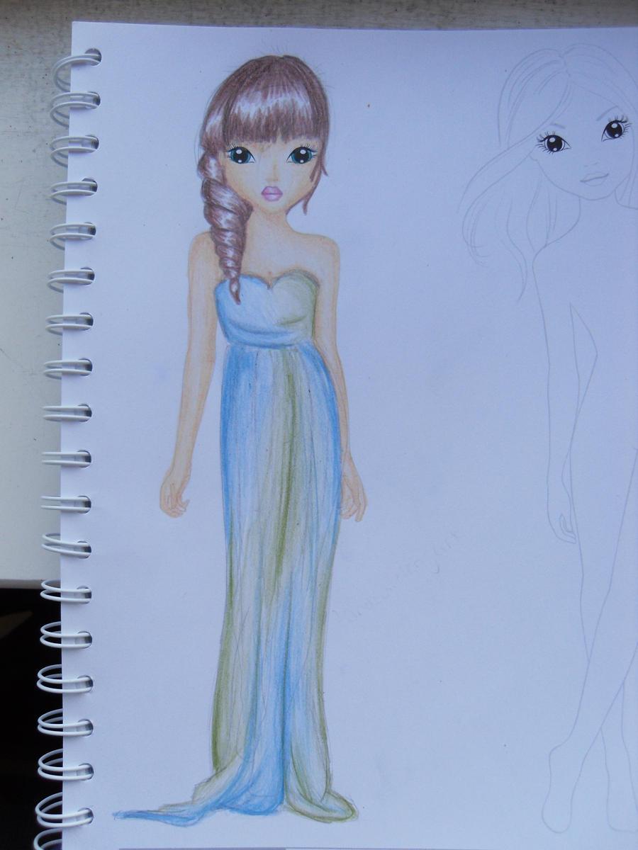 blue green dress- topmodel by depesche by MrsCreative on ... on Top Model Ideas  id=73916