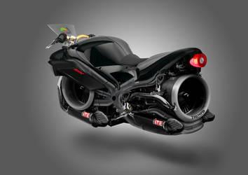 Triumph Hover-Bike Concept Artwork by squiffythewombat