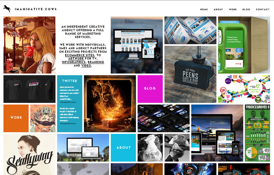 New Agency Website Design - IC by squiffythewombat