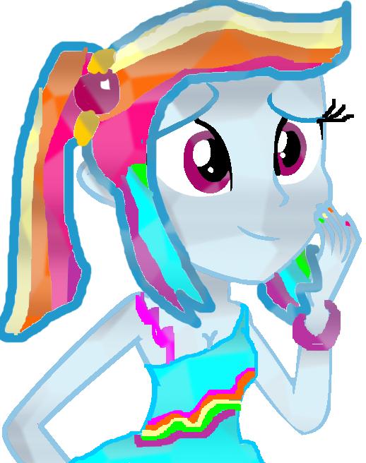 Equestria Girls Crystal Rainbow Dash By Marioponyfan