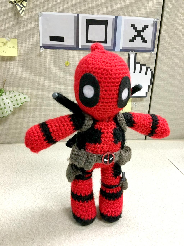 Amigurumi Crochet Dress Pattern : Deadpool Amigurumi by FindMolly on DeviantArt