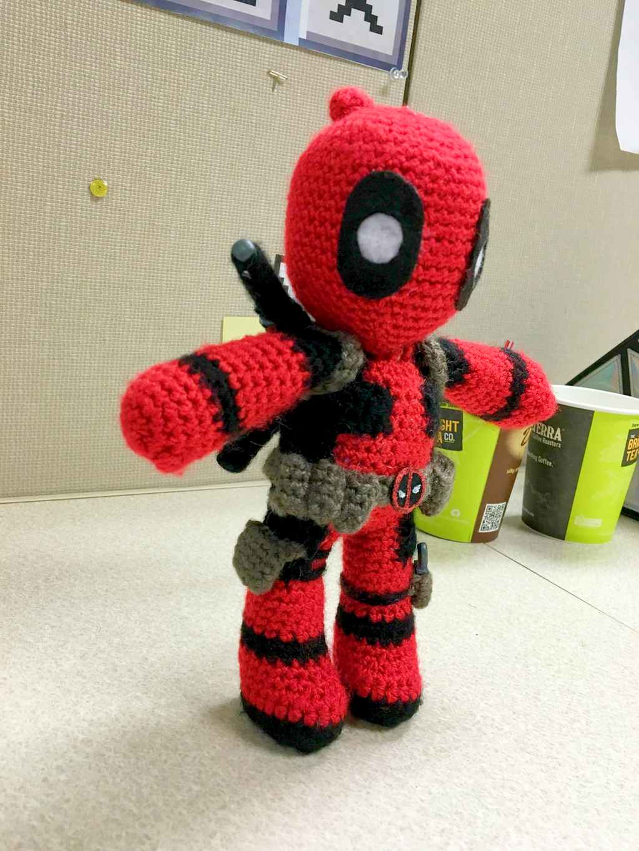 Crochet Wedding Dress Pattern Doll : Deadpool Amigurumi by FindMolly on DeviantArt