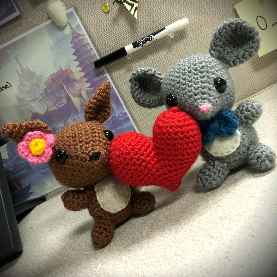 Amigurumi Squirrel Crochet Pattern : Squirrel and Mouse Amigurumi by FindMolly on DeviantArt