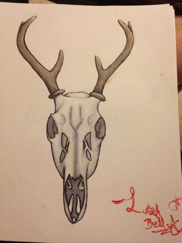 Deer Skull by Lukahhhhhhhh