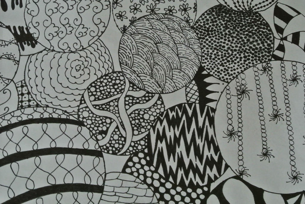 Zentangle with circles by naseem-art12 on DeviantArt