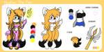 Ref sheet : huatay the swift fox by Huatay