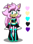 ref sheet : seren the hedgehog by Huatay