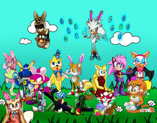 Sonic easter collab by Huatay