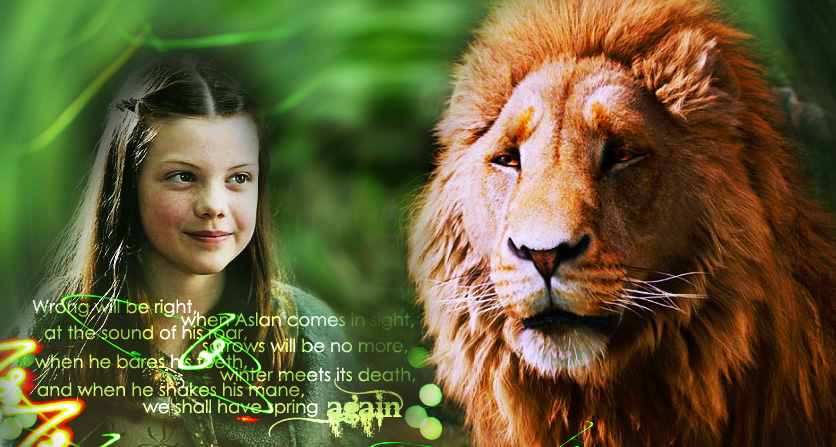 Lucy And Aslan By Jugoria