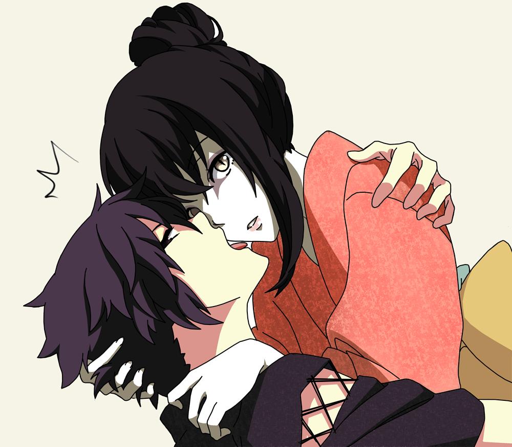 Anime girl licking