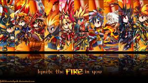 Brave Frontier Fire Units Wallpaper