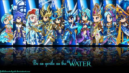 Brave Frontier Water Units Wallpaper by fickleheartedgeek