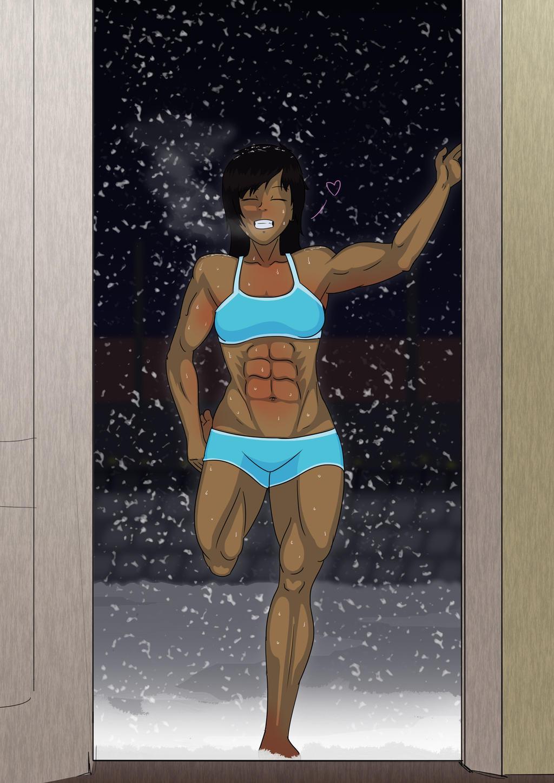 Rachel - Back From a Jog by Abdomental