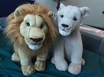 Live-action Lion King Simba and Nala plush