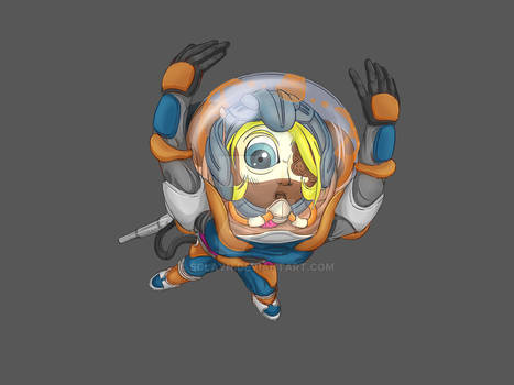 E.V.A - Space Jumble game project (Character n.2)