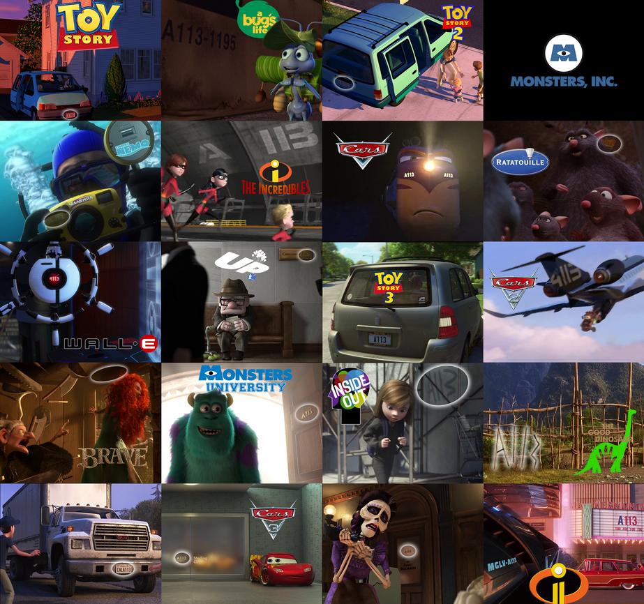 Disney Pixar Easter Egg Complilation: A113 By Perbrethil