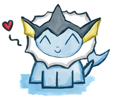 Happy Vaporeon Is Happy by PokeMonandFootball