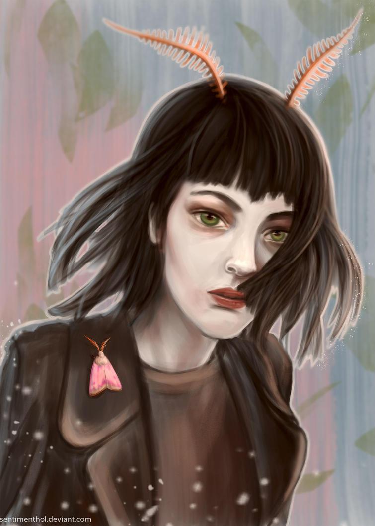 Moth girl by Sentimenthol