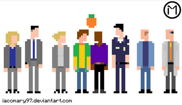 Psych Cast 8bit by iacomary97