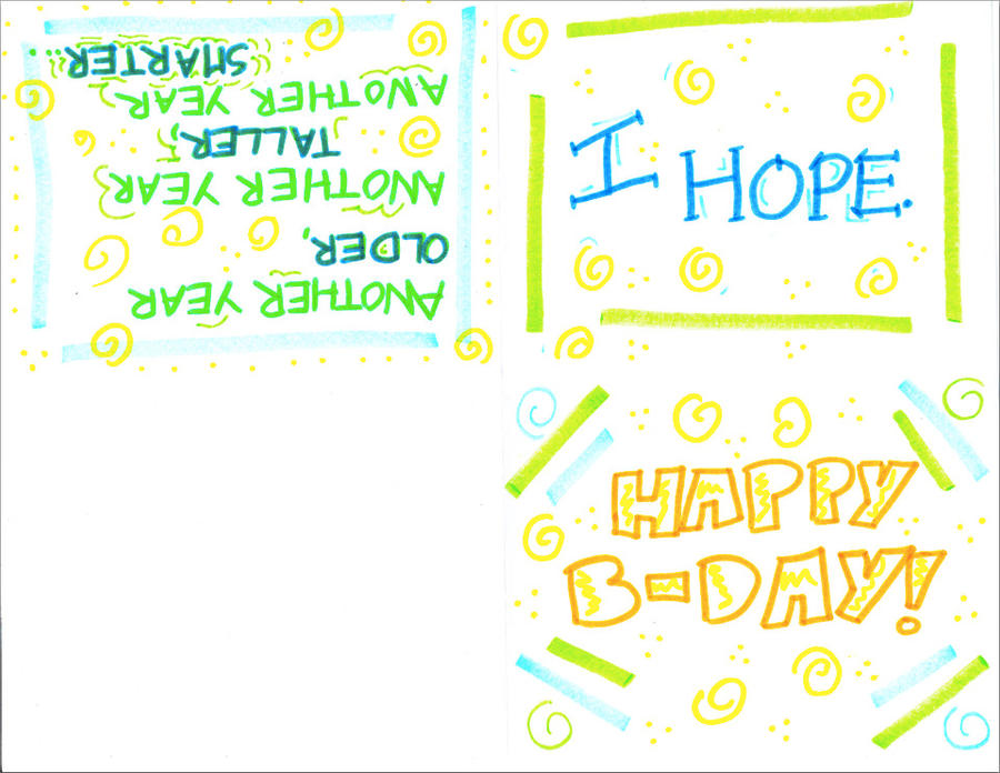 Birthday Card Example by EstrangeloEdessa on DeviantArt – Examples of Birthday Greetings
