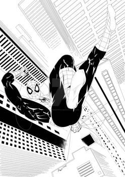 Spider Man B and W