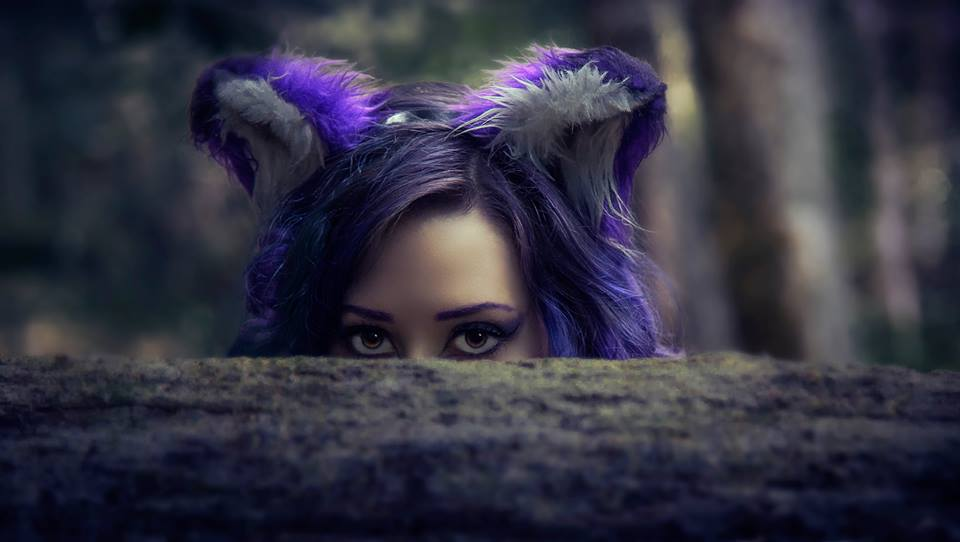 A Purple Fox Appears by Tristin-Vitriol
