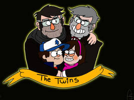 The Twins-Gravity Falls by Elliot-Baskerville
