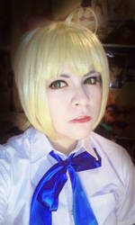 Test cosplay Saber by Elliot-Baskerville