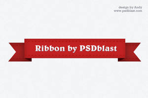 Red ribbon graphic by psdblast