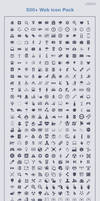 500+ web icons pack