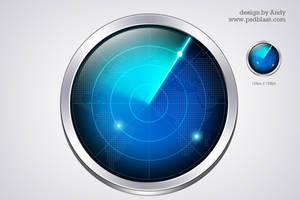 Radar icon PSD by psdblast