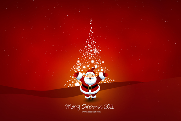 Christmas wallpaper 2011 by psdblast