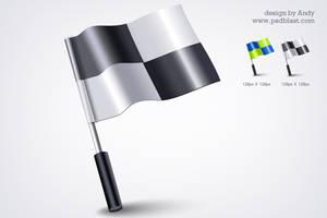 3d flag icon PSD by psdblast