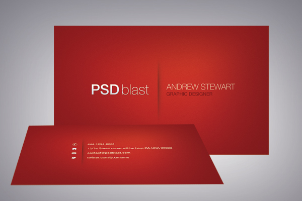 Red color business card template by psdblast on deviantart red color business card template by psdblast reheart Image collections