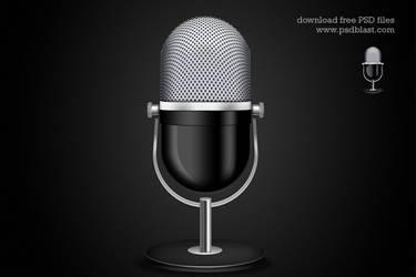 Microphone Icon (PSD) by psdblast