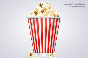Popcorn Box Icon (PSD) by psdblast