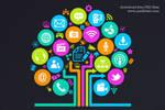 Social Media Tree Icon (PSD)