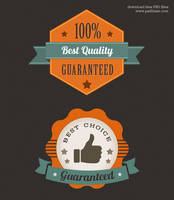Colorful Premium Quality Web Badge (PSD) by psdblast