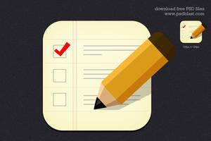 Checklist Icon (PSD) by psdblast