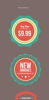 Flat Web Badges (PSD)