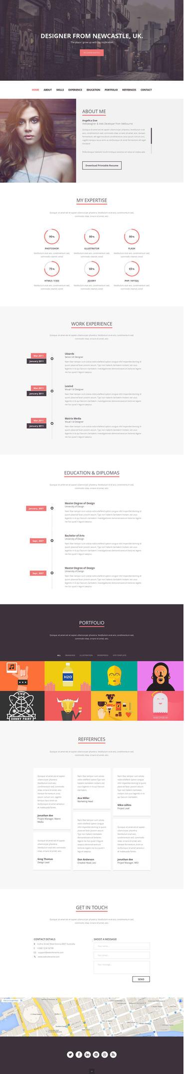 Folix Responsive Resume, Personal Portfolio Temp by psdblast
