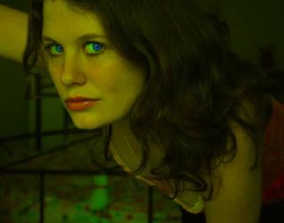 Girl With Blue Eyes by Jahnuu