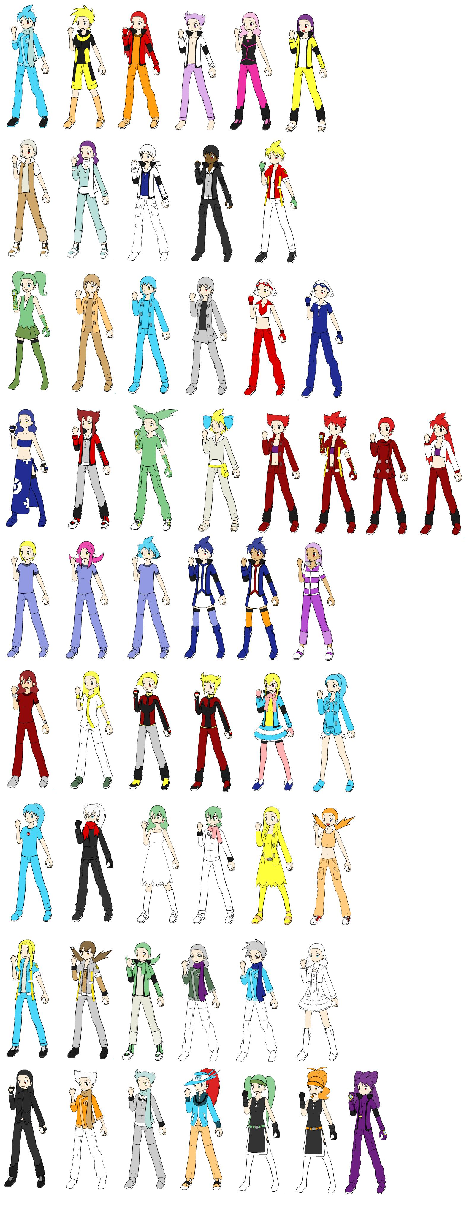 Legendary Pokemon as Trainers by WhiteMoltres on DeviantArt
