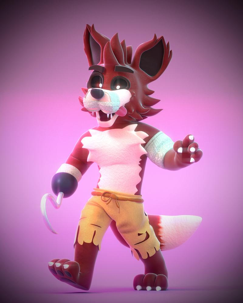 Nightmare Foxy! by SmashingRenders