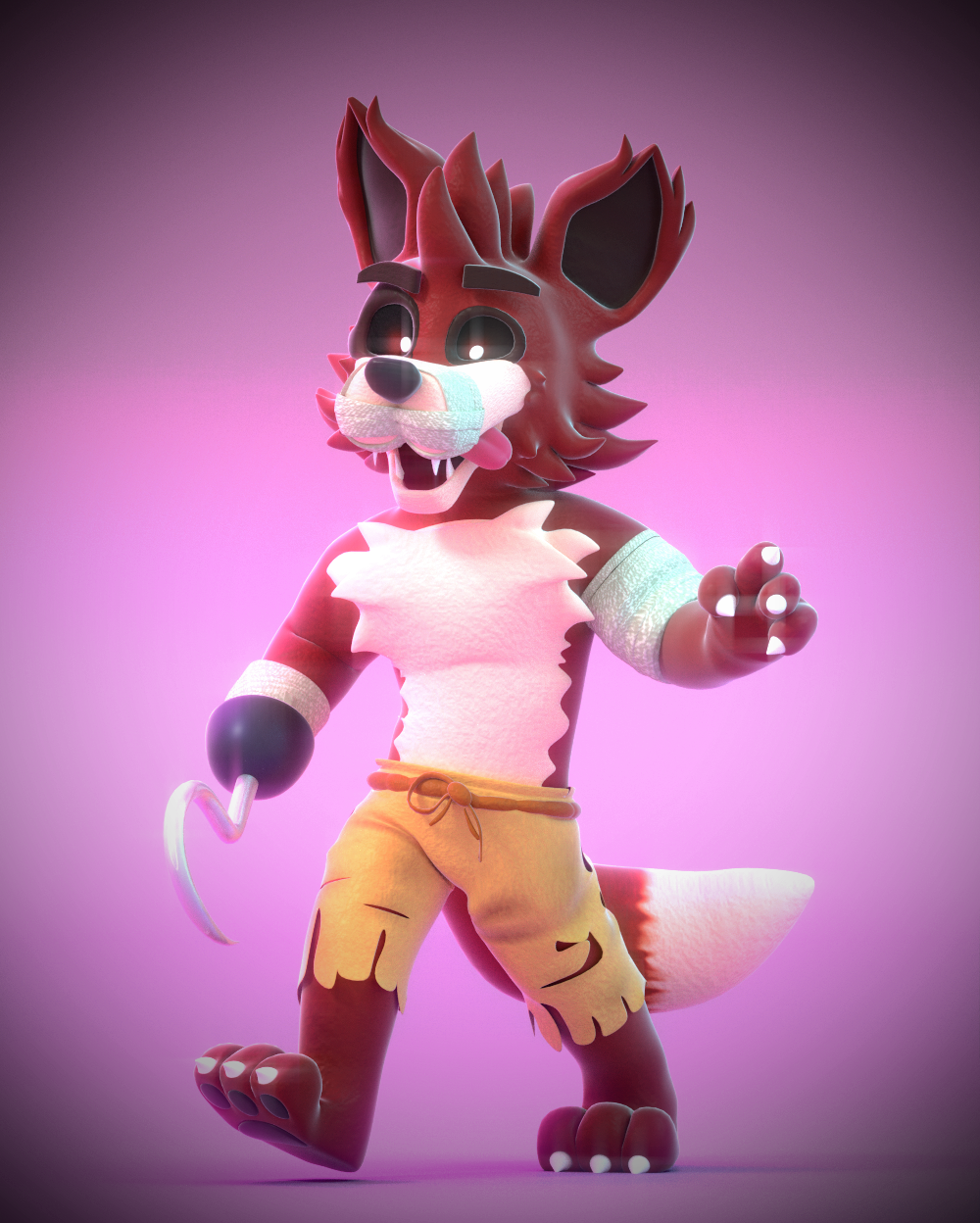Nightmare Foxy! By SmashingRenders On DeviantArt