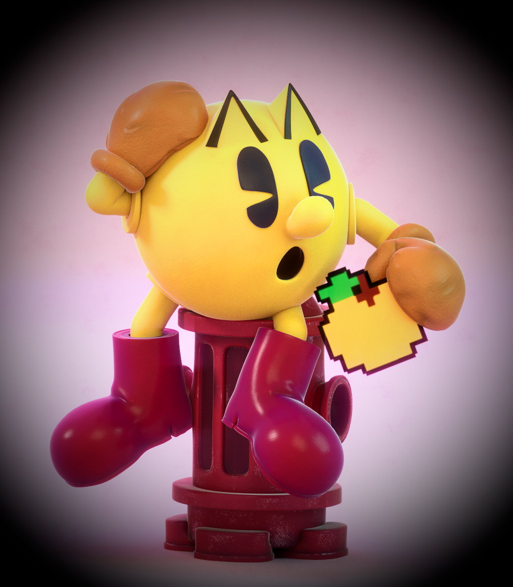 It's just a graphic of Légend Pac Man Render